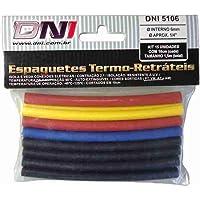 DNI, 5106, Espaguete Termo Retrátil 6 mm Contração 2.1 - Kit 10 pcs