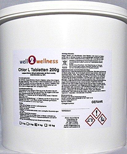 Langsam lösliche Chlortabletten 'Chlor L Tabletten' a 200g mit 90% Aktivchlor 10kg (2 x 5kg)