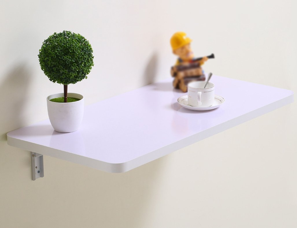 LXF 折りたたみテーブル 折り畳み式テーブルダイニングテーブル壁掛けコンピュータデスクノートブックラーニングテーブル (色 : 白, サイズ さいず : 80*40CM) B07BTW63HX 80*40CM|白 白 80*40CM