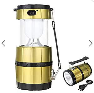 Portable Camping Tent Solar Lantern Collapsible Handheld LED Night Light Lamp Flashlight by ShopIdea