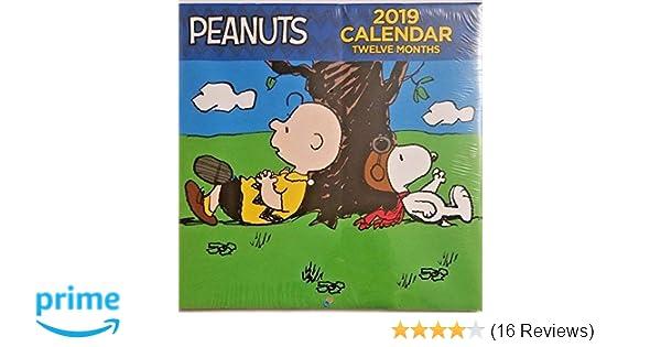 Peanuts 2019 Monthly Calendar - Twelve Months/Year (Snoopy, Charlie Brown, Lucy, Sally, Linus, Woodstock)