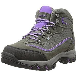 Hi-Tec Women's Skamania Mid Waterproof Hiking Boot, Grey/Viola,8 M US