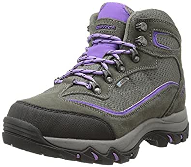 Hi-Tec Women's Skamania Mid Waterproof Hiking Boot, Grey/Viola,5 M US