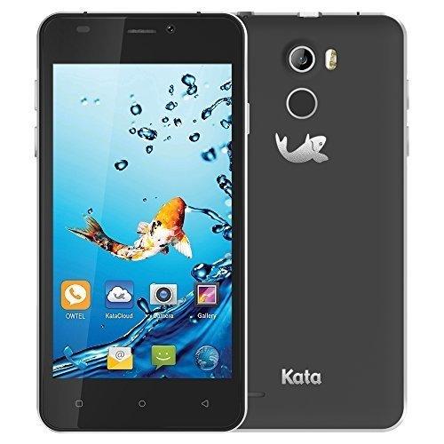 (Kata V4-4.5-inch IPS Quad Core International Unlocked Smartphone Android 5.1 - Dark Grey - Super Slim HD 1.3 GHz Dual Sim Card GSM 8MP Camera)