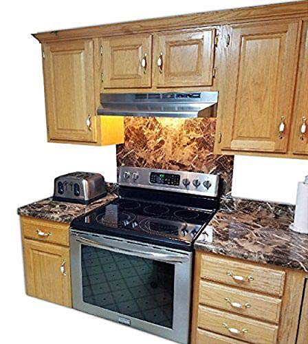 EZ FAUX DECOR Self Adhesive Dark Emperador Brown Marble Granite Peel and Stick Instant Countertop Update 36quot x 144quot Roll Removable Thick Waterproof Vinyl Laminate Film Not Contact Paper or Paint
