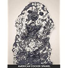 American Cocker Spaniel: Notebook with Alternate Lined and Blank Pages for Writing & Drawing