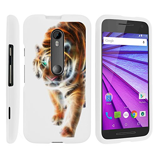 Moto G 3rd Gen Phone Cover, Lightweight Snap On Armor Hard Case with Cute Design Collage for Motorola Moto G (2015) XT1540, XT1548 by MINITURTLE - Blazing Tiger