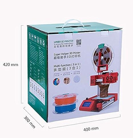 Impresora 3D SUPER HELPER + Cortador láser SH105L 105*105*155mm ...