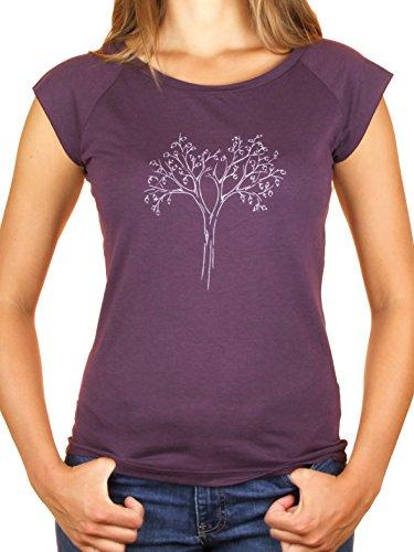 Life-Tree Fairtrade Bambù T-shir Donna Reduced Bambù e cotone biologico