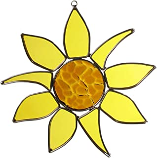 product image for American Made Sunflower Art Glass Sun Catcher