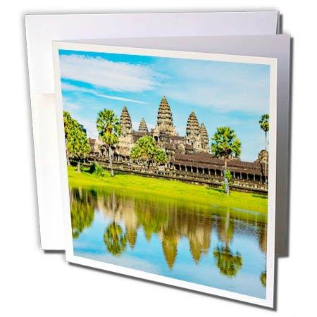 3dRose Danita Delimont - Travel - Landscape of Angkor Wat, Angkor, Cambodia - 12 Greeting Cards with envelopes (gc_277061_2)