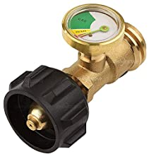SHINESTAR Propane Tank Gauge Level Indicator Leak Detector Gas Pressure Meter Universal for RV Camper, Cylinder, BBQ Gas Grill, Heater and More Appliances-Type 1 Connection