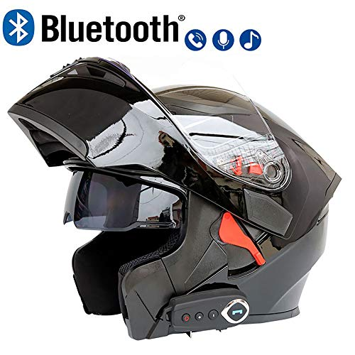 LuanYe Motorcycle Bluetooth Helmets Full Face Flip up Dual Visors
