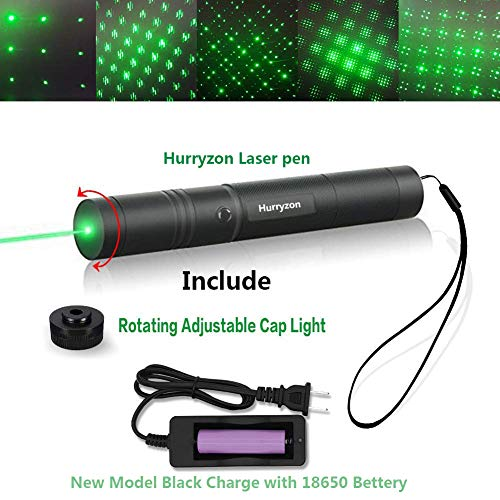 Tactical Green Hunting Rifle Scope Sight Laser Pen Demo Remote Pen Pointer Projector Travel Outdoor Flashlight LED Interactive Baton Funny Laser toy (Laser ()