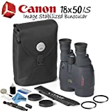 Canon 18×50 IS Image Stabilized Binocular Starters Bundle