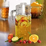 Glass Fridge Pitcher with Lid - 1.8L Dimpled