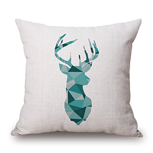 Artistdecor Deer Cushion Covers 16 X 16 Inches / 40 By 40 Cm Gift Or Decor For Car Seat,outdoor,kids Girls,bar,christmas,her - Two Sides