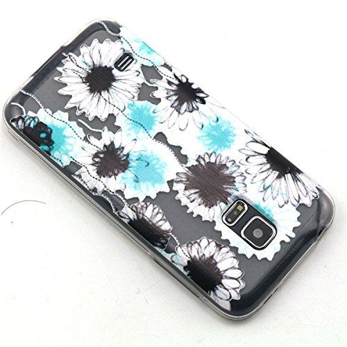 Colorful Pattern Flexible Slim TPU Case Cover for Samsung Galaxy S5 Mini