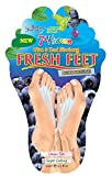 7th Heaven Fresh Feet Deodorizing Foot Cream Packet, Mint & Blueberry, 0.7 Ounce (Pack of 6)