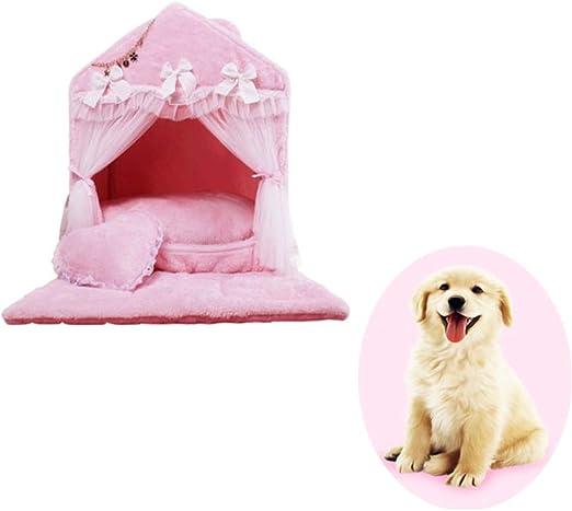 YSYDE Princess Heart Pet Dog House Muy Lindo, diseño Separado de ...
