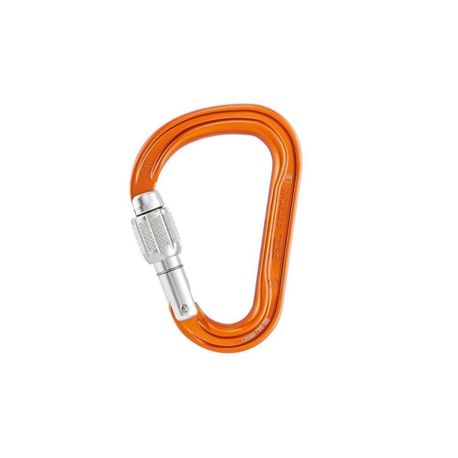 Petzl ATTACHE, Lightweight Screw Lock Carabiner for Climbing