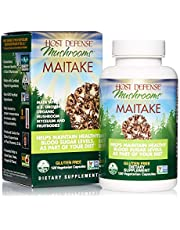 Host Defense, Maitake Capsules, Promotes Normal Blood Sugar Metabolism Already Within The Normal Range, Daily Mushroom Supplement, Vegan, Organic, 120 Capsules (60 Servings)