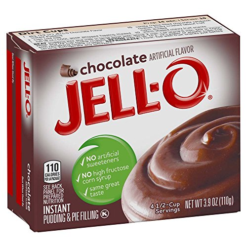 - JELL-O Chocolate Instant Gelatin Dessert Mix (3.9 oz Box)