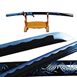 Elegant Blue Dragon Sword Sharp Japanese Samurai Katana Carbon Steel Fully Functional Full Tang