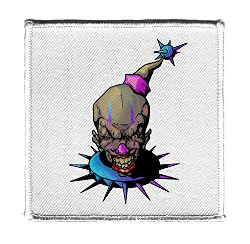 Hat Shark Purple and Blue Fun, Frightening, and Evil Clown Iron On Patch -