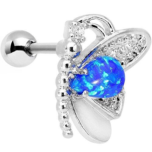 Faux Opal Butterfly Right Cartilage Earring (Butterfly Faux Earrings)