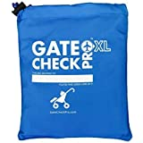 Gate Check PRO XL Double Buggy | Pram & Pushchair Travel Bag | Ultra Durable Ballistic Nylon | Travel System Featuring Padded Backpack Shoulder Straps for Comfort (Made By the #1 Specialist Brand)