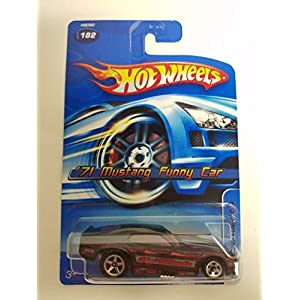 '71 Mustang Funny Car Black Color 2005 Editions Hot Wheels diecast car No. 182