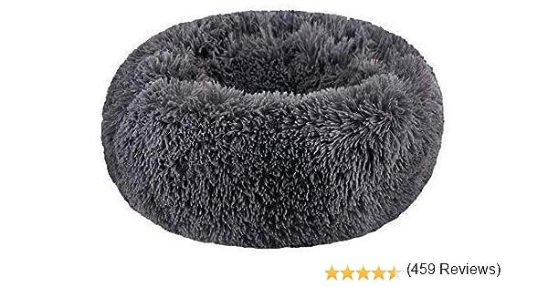 SAVFOX - Cama Larga Redonda de Felpa para Perros y Gatos: Amazon.es: Productos para mascotas