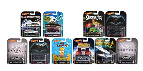Hot Wheels 2016 Retro Entertainment Series A and B 10 Diecast Vehicles Set