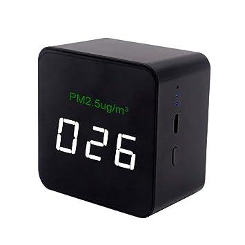 BIlinli Probador de Calidad del Aire del Monitor de Humo de partículas de Alta precisión Mini LED PM2.5: Amazon.es: Hogar