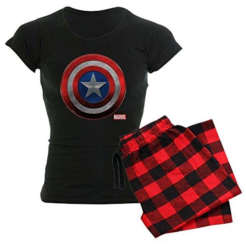 CafePress Captain America Grunge Womens Novelty Cotton Pajama Set, Comfortable PJ -