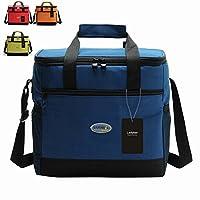 Large Insulated Lunch Bag, Picnic Bag, Ladyker Lunch Cooler Tote Bag with Front Pocket,Sides Pockets,Adjustable Shoulder Strap,Handle Strap and Zipper for Women Men Kids Outdoor Work School Large from Ladyker