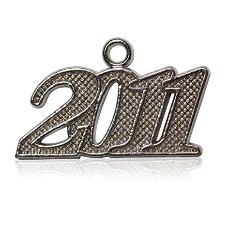 Year 2011 Silver Drop Date Signet for Graduation Tassel