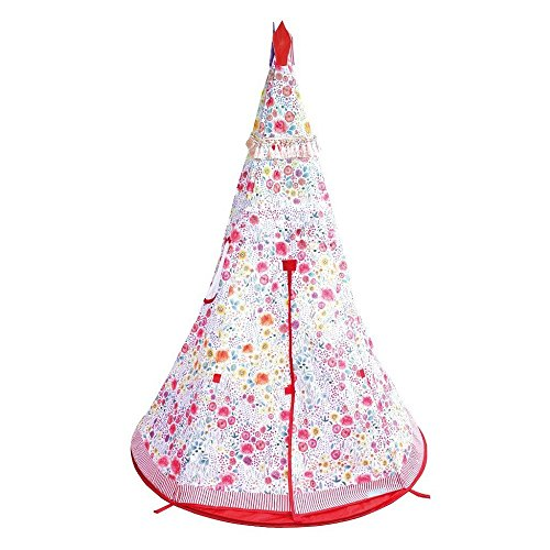 Time Concept Kids Portable Flower Tent - Water Repellent, Fire Retardant - Indoor/Outdoor ()