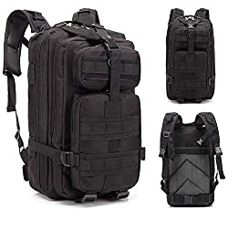 Lovinland 30 L Outdoor Backpack Tactical Rucksacks Military Trekking Bag for Hiking Camping Hunting Black