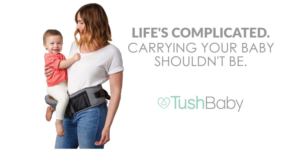 TushBaby The Original Hip Seat Baby Carrier, Grey by TushBaby (Image #9)