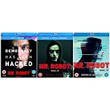 Mr Robot Season 1-3 Complete Blu Ray Collection + Bonus Features + Deleted Scenes + Gag Reel + Mr Robot S3 A World Divided + The Visual Style of Mr Robot + Through the Lens of Episode 3.4