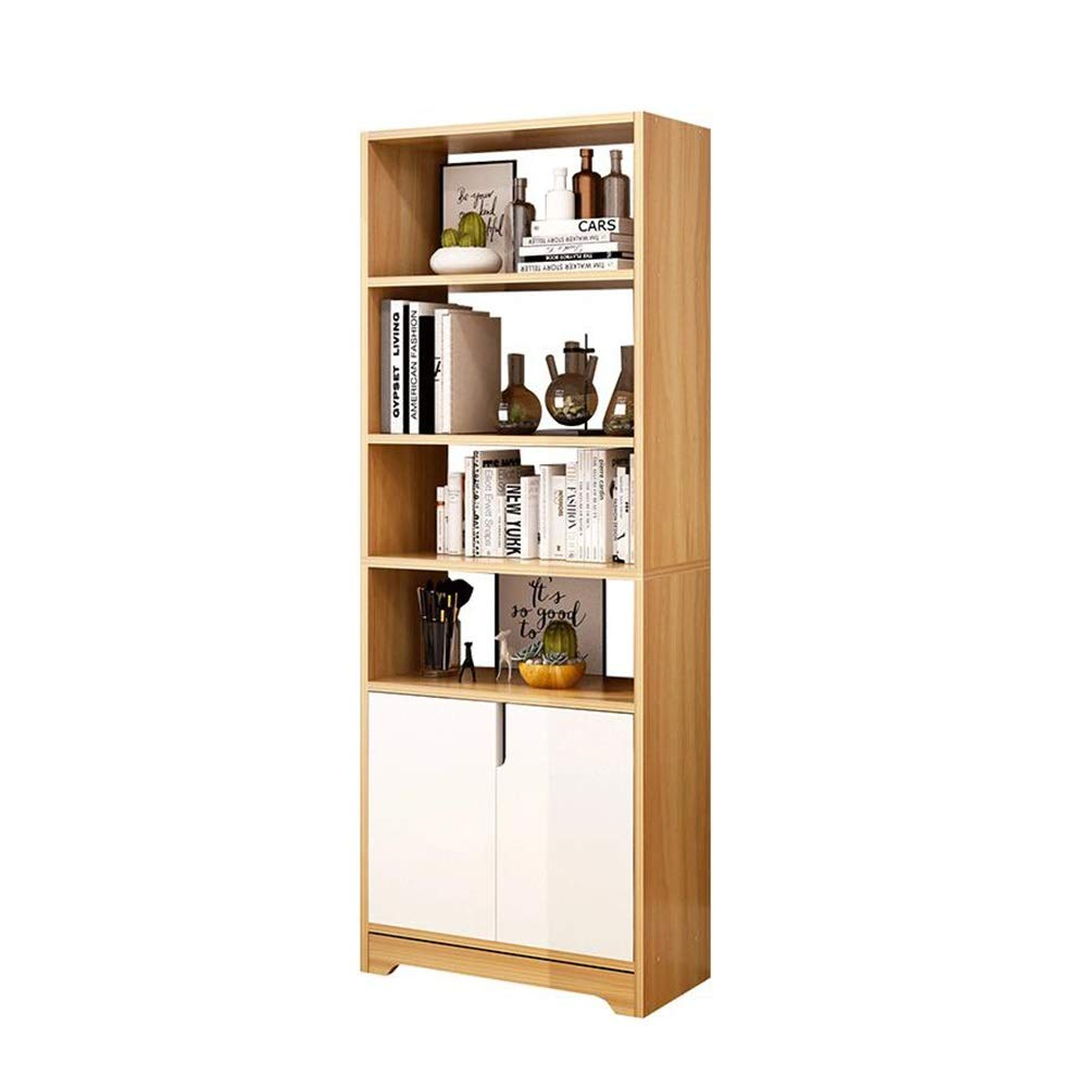 書棚学生着陸クリエイティブ本棚展示棚2ドア付ベース増粘 TIDLT (色 : A, サイズ さいず : 60x20x161.2cm) B07Q7ZT5K2 A 60x20x161.2cm