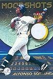 Autograph Warehouse 343477 Alfonso Soriano Player Worn pants Patch Baseball Card - New York Yankees 2003 Fleer Ultra Moonshots