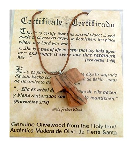 Olive Wood Pendant - Christian Tau Tao Cross Franciscan Hand Made Bethlehem - PEN116