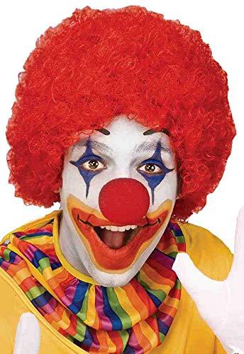 Ronald Mcdonald Halloween (Forum Novelties Unisex Afro/Clown Wig,  Red, One)