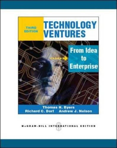 Read Online Technology Ventures From Idea to Enterprise ebook
