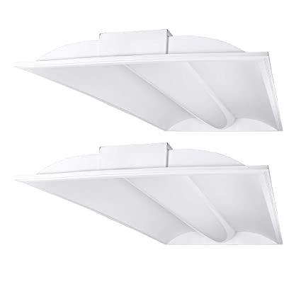 Luxrite Troffer 2x4 Led Panel Light 60w 4000k Cool White 6800 Lumens Dimmable 24x48 Inch Drop Ceiling Lights Ul Dlc Listed 2 Pack