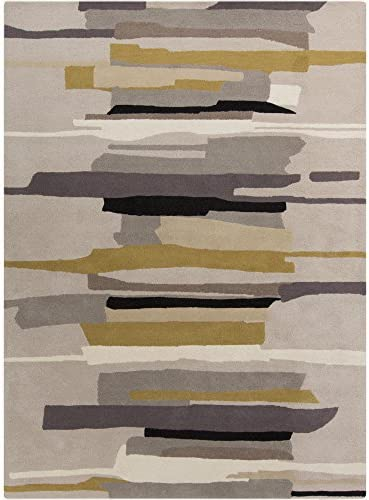 Surya Harlequin Gray Area Rug, 9 x 12 , Medium Gray Khaki Tan Black Camel Light Gray