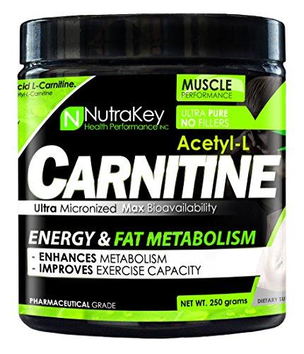 - NutraKey Acetyl L-Carnitine, 250 Gram